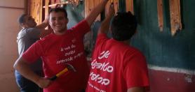 סטודנטים ממגמת בניין – יום המעשים הטובים